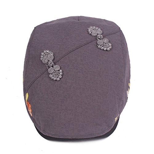 Hats Chinese Style caps Beret Retro Buckle Front Cap Cotton and Linen -