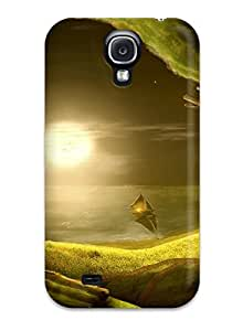 Flexible Tpu Back Case Cover For Galaxy S4 - City Fantasy Abstract Fantasy