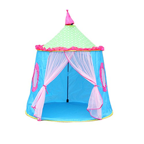 KooJoee Kids/Children Waterproof Anti-mosquito Foldable Pop Up Indoor and Outdoor Princess Castle Play tent/Play House/Toys As a Best Gift for 1-6 years old Kids/boy/girls/baby/Infant (Blue)