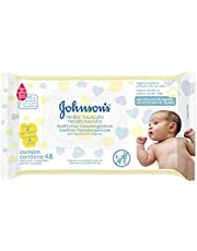 Toalha Hipoalergênica Recém Nascido, Johnson's Baby, Amarelo, Pacote de 48 unidades
