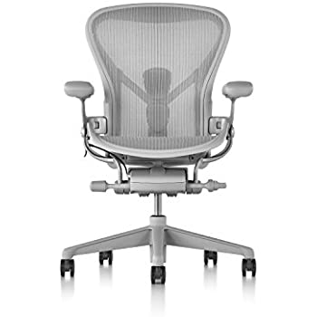 Herman Miller B Size Aeron Chair, Mineral