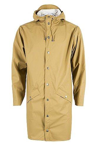 Rains Long Jacket, Abrigo Impermeable para Hombre Marrn (Khaki)