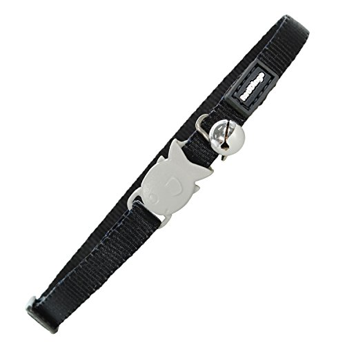 Red Dingo Classic Cat Collar, One Size Fits All, Black
