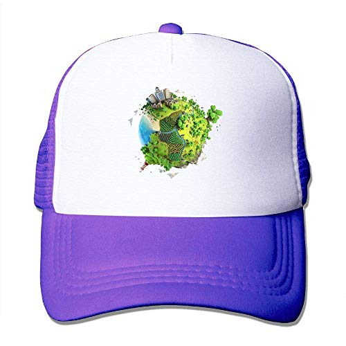Creative Earth Print Adjustable Trucker Sun Hats Mesh Sports Baseball Caps (Charlie Adjustable Hat Womens)