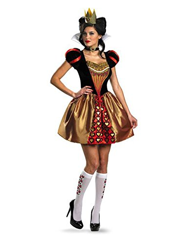(Disguise Women's Alice In Wonderland Movie Sassy Queen Costume, Red, Womens M)