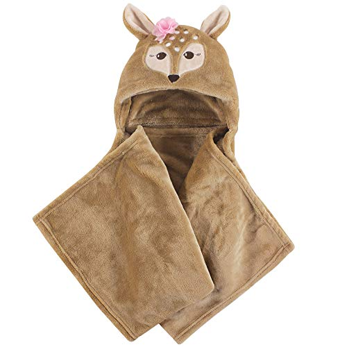 Hudson Baby Unisex Baby and Toddler Hooded Plush Blanket, Fawn, One Size