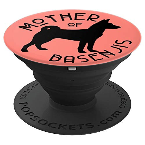 Funny Dog Hunting - Funny Basenji Hunting Dog Lover Mom on Coral Pink PS13984 - PopSockets Grip and Stand for Phones and Tablets