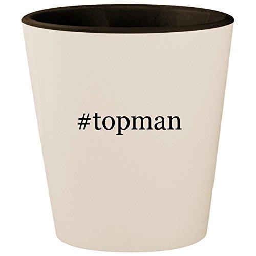 Price comparison product image #topman - Hashtag White Outer & Black Inner Ceramic 1.5oz Shot Glass