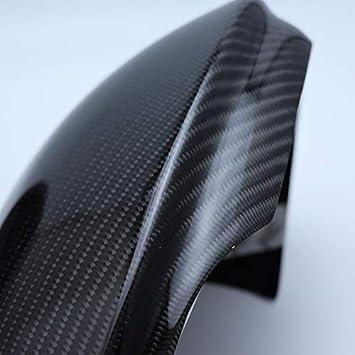 governingsoldiers Sustituci/ón de los topes Laterales de la Cubierta del Espejo de Fibra de Carbono Shell para el Alfa Romeo Giulia 2015-2018 Car Styling,Negro