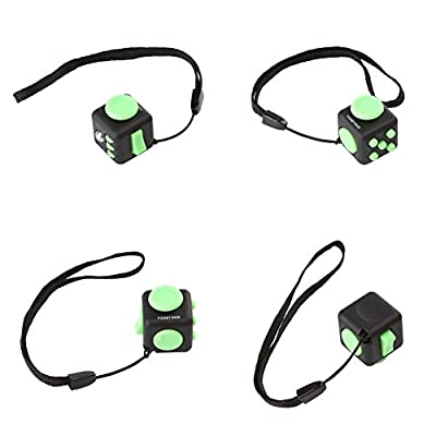 FIDGET DICE Relieves Stress and Anxiety Attention Mini Cube With Keychain - 2.2cm