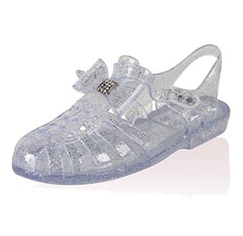 SAUTE STYLES Ladies Girl Beach Summer Retro Diamante Jelly Flip Flop Sandals Women Shoes Size 3-8 Clear rGkGUvyWOQ