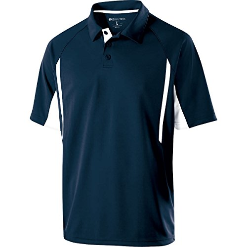 Holloway Sportswear Avenger Short-Sleeve Polo Shirt. 222530 Navy / White 3XL