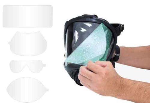 SAS Safety 7600-96 Peel-Off Lens Covers for Opti-Fit Respirator, 25-Pack