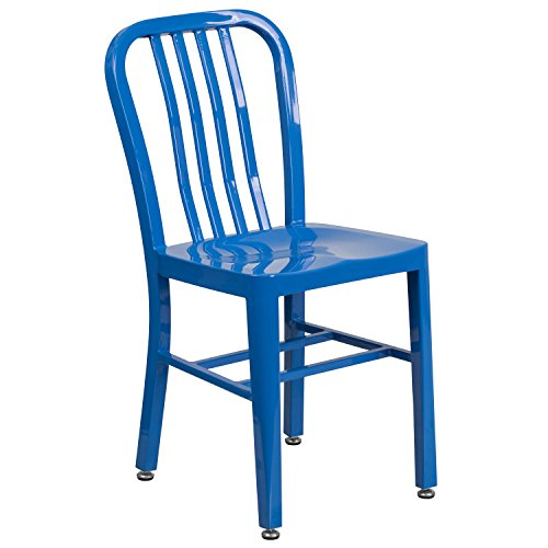 Flash Furniture Blue Metal Indoor-Outdoor Chair by Flash Furniture