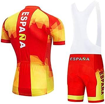 Culote Pantalones Cortos Conjunto de Ropa Ciclismo para Bicicleta Monta/ña Ropa de Equipo Profesional STEPANZU Maillot Ciclismo Verano Hombre MTB Ropa