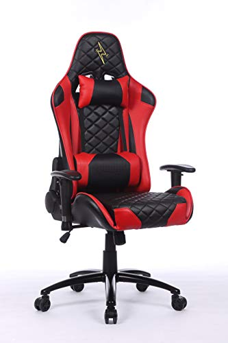Urban Wave OC Venice High Back Gaming Chair with 2D Adjustable Arms Lumbar and Headrest Pillows (Red)