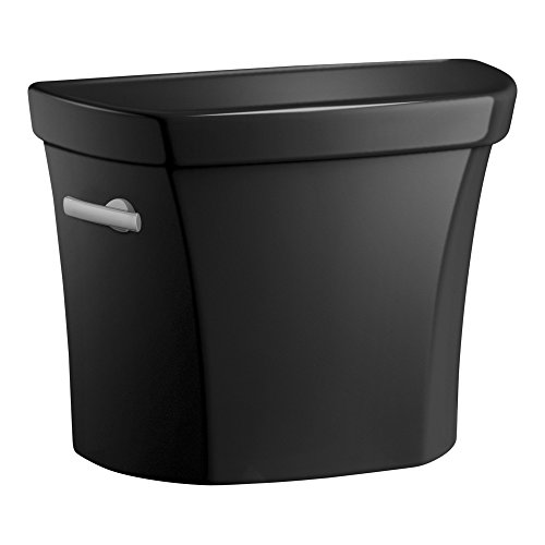 Kohler 5311-7 Wellworth Class Five High Efficiency Toilet Tank Only With Left Lever 1.28 Gpf, Black ()