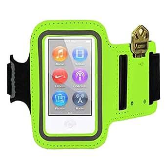 iPod Nano 7th Generation - Sports Armband with Key Holder Pocket - Green -
