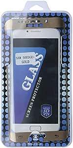 شاشة حماية زجاجية مع تغطية كاملة للجوال جالكسي إس 6 إيدج بلس , ذهبي