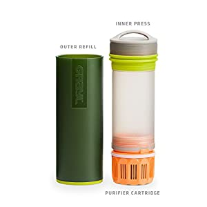 GRAYL Ultralight Water Purifier [+ FILTER] BOTTLE (Green)