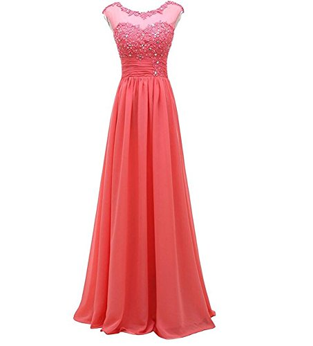 KA Kleid KA KA Damen Kleid Korallenrot Damen Korallenrot Beauty Beauty Beauty OPqtwxZAn