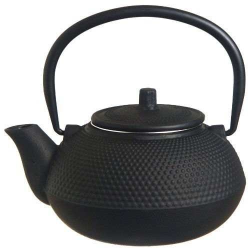 New Star International 40oz Hobnail Cast Iron Teapot (BLACK) - Hobnail Cast Iron Teapot