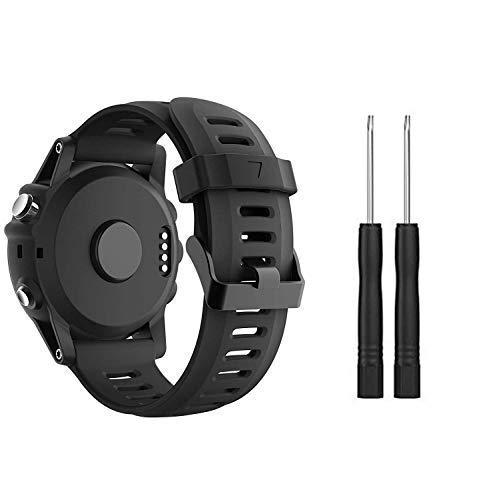 SUPORE Garmin Fenix 3 Bracelet de Montre, Silicone Doux Remplacement Respirant Beau Bracelet Sport &