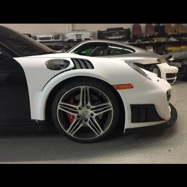 991 GT3RS Style Louvered Front Fenders for 997 Turbo & 997 Carrera application