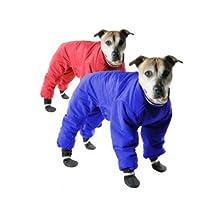 Muttluks Inc ML-DSS98-26-RBU 4-Legged Nylon Reversible Dog Snow Suit, Size 26, Red/Blue