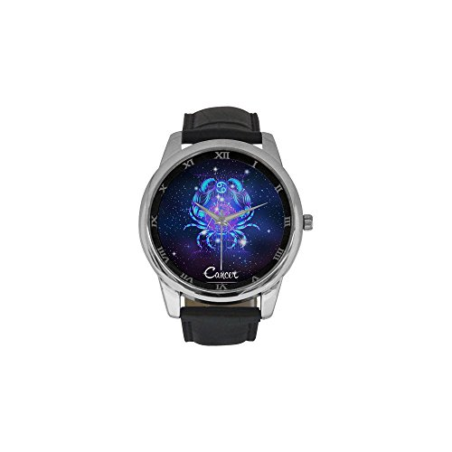mens-constellation-zodiac-sign-cancer-stainless-steel-leather-strap-waterproof-band-wrist-watch