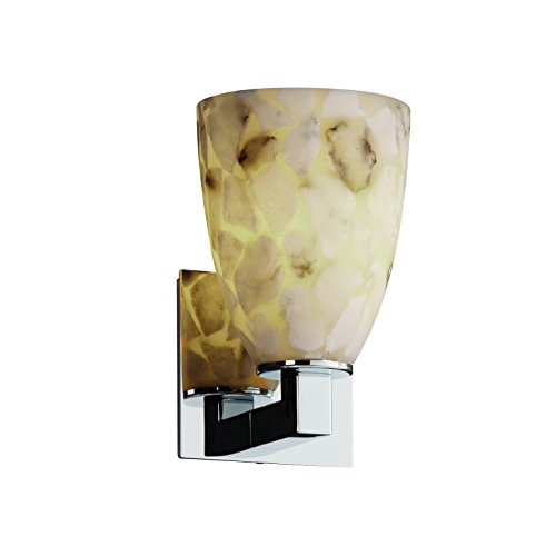 Justice Design Group ALR-8921-18-NCKL Alabaster Rocks! Collection Modular 1-Light Wall Sconce ()