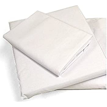 """Cot Sheets (Fitted, Flat, Sets), 4 Piece Cot Sheet and Pillow Case Set - White- 1 cot sheet 33"""" x 75"""", 1 cot flat sheet 64""""x94"""", 2 pillow cases 20""""x30""""."""