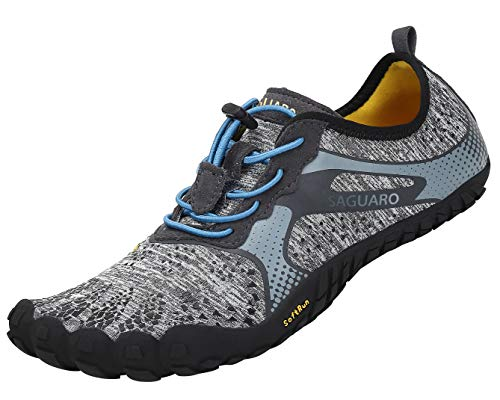 SAGUARO Barfußschuhe Outdoor Fitnessschuhe Traillaufschuhe Unisex - Erwachsene Gr.36-47