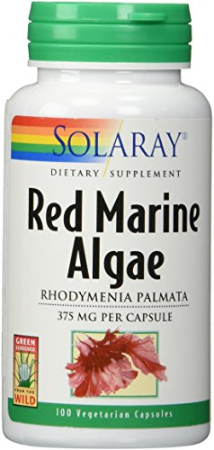 Solaray - Red Marine Algae, 375 mg, 100 (375 Mg 100 Capsules)