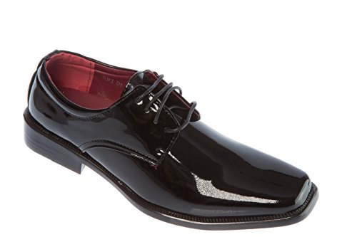 Parrazo Mens Slip-On Oxfords-Shoes PU Leather Casual Fashion or Formal Business Dress Black qVqTO