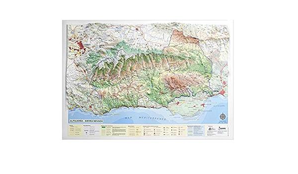 Mapa en relieve de Sierra Nevada - Las Alpujarras: Escala 1:200.000: Amazon.es: All 3D Form, S.L.: Libros