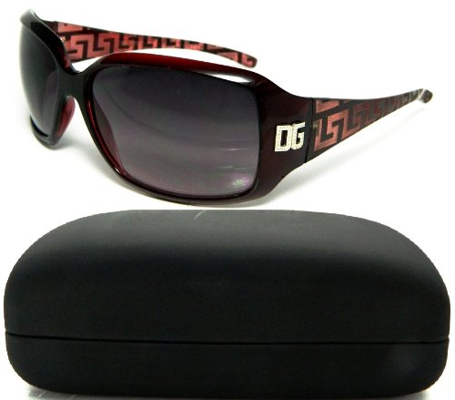 Dg Eyewear Wholesale - Womans Designed Stem/Red DG Eyewear Sunglasses W/Hard Protective Case 2105C