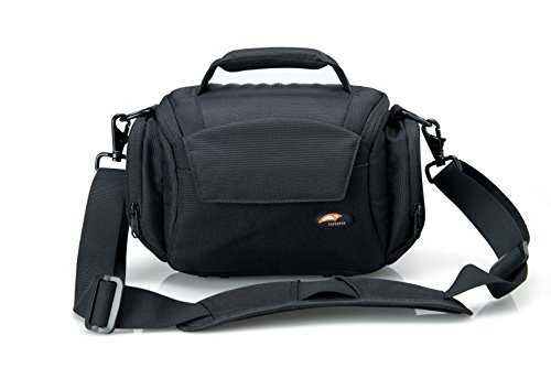 Black Camera Carrying Case Soft Shoulder Digital Camera Equipment Bag Padded Photo Carry Bag Waterproof for Nikon, Canon, Sony, Pentax Olympus, Panasonic etc