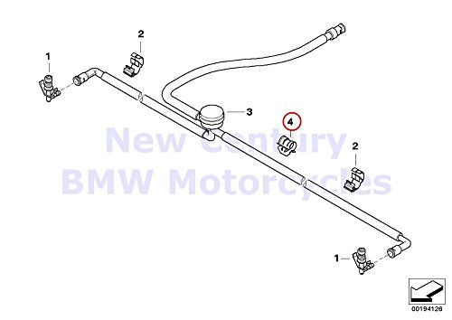 bmw genuine motorcycle cable wire line clip holder r1200gs