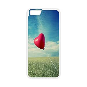 IPhone 6 Case Alone Heart Flying, IPhone 6 Case Heart & Love, [White]