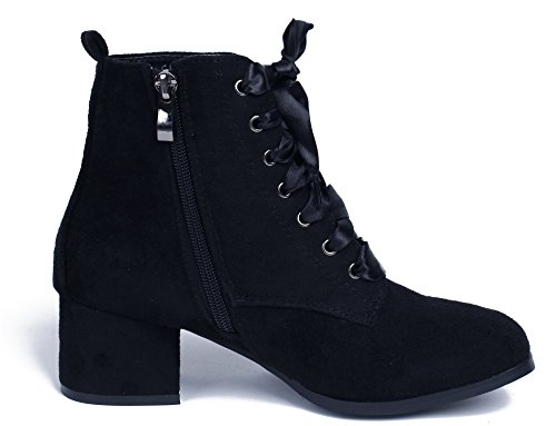 Boots Su Femmes Ageemi Lacets Shoes pXEw66q
