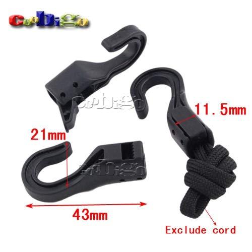 Dalab 100pcs Pack 4321mm Black Swivel Plastic Snap Hook for 6mm Cord Webbing Strap Luggage ()
