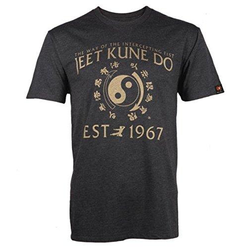 Bruce Lee Family Company Jeet Kune Do Homage T-Shirt Heather Black (Small)