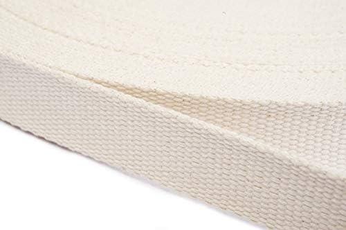 Jajasio Correa de algodón 25 mm de Ancho, Correa de algodón ...