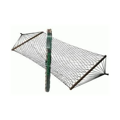 Nylon Hammock with Spread Bars (Includes Carry Bag) 200lb Limit : Garden & Outdoor