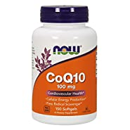 NOW Supplements, CoQ10 100 mg, Pharmaceutical Grade, 150 Softgels