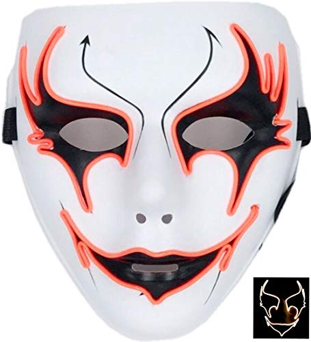 Circle Circle El Wire Glowing LED Halloween Masks (Orange)
