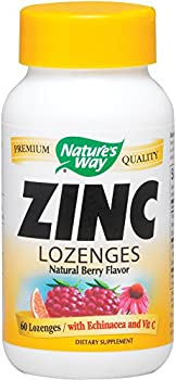 Zinc/Echinacea&Vitamin C Lozenges-Berry Flavor (Pack of 2) Nature's Way 60 Lozenge