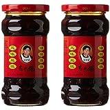 Laoganma (Lao Gan Ma) Black Beans Chili Sauce, 9.88 oz (Pack of 2)