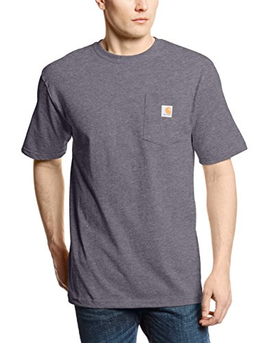 Carhartt Men's K87 Workwear Pocket Short Sleeve T-Shirt (Regular and Big & Tall Sizes), Carbon Heather, XX-Large (Top 10 Best Buds)